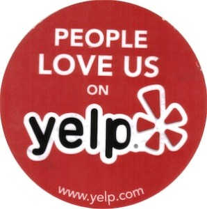 love us on Yelp!